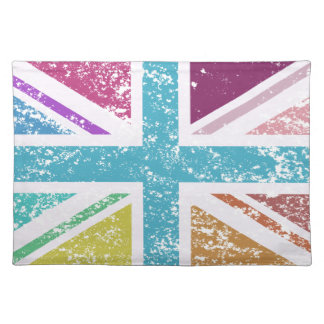 Distressed Union Flag Multicolored Placemat