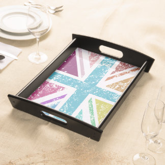 Distressed Union Flag Multicolored Serving Tray