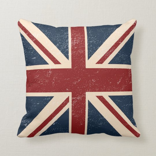 Distressed Union Jack British Flag Throw Pillow Zazzle