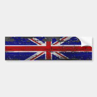 Distressed Union Jack Flag Bumper Sticker