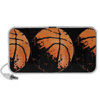 Distressed Urban Basketball Pattern on Black Mp3 Speaker