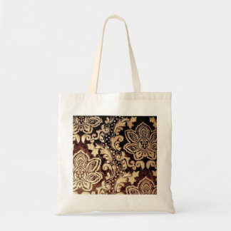 distressed victorian gold chocolate brown damask