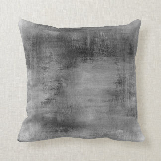Distressed Vintage Black Gray Grungy Pastel Throw Pillow