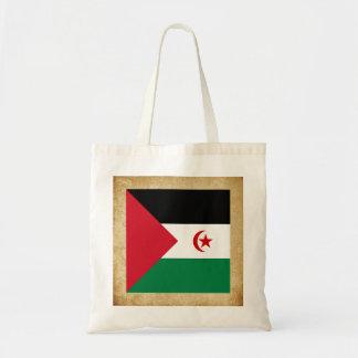 Distressed Western Sahara Flag Budget Tote Bag