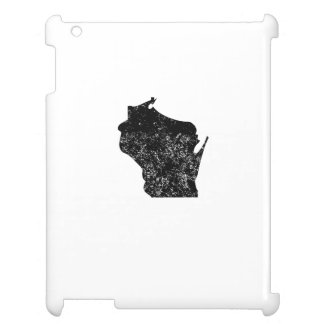 Distressed Wisconsin Silhouette Cover For The iPad