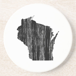 Distressed Wisconsin State Outline Coaster