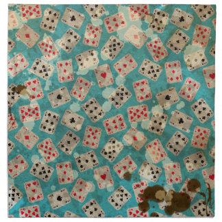 Distressed Wonderland Alice Pattern Napkin