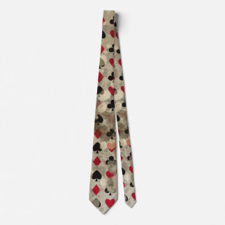 Distressed Wonderland Alice Pattern Tie