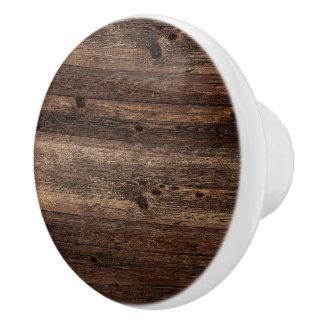 Distressed Wood Knob White