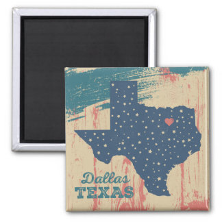 Distressed Wood Magnet - Dallas Texas