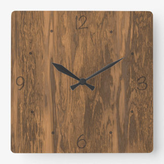 Distressed wood pattern clock