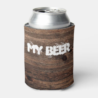 Distressed Wood Vintage Funny My Beer Can Holder Can Cooler