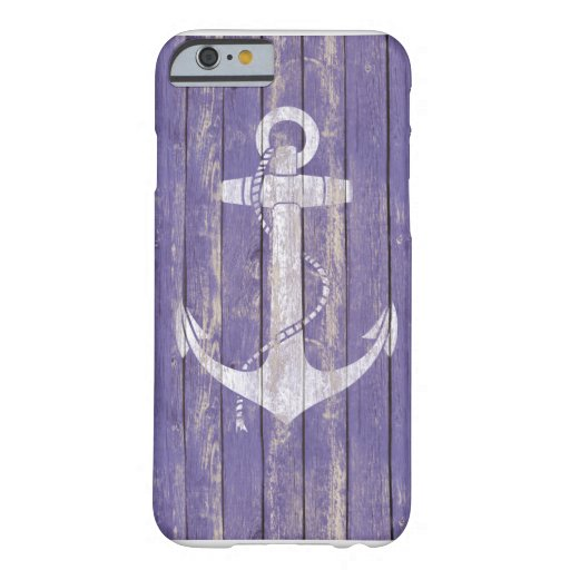 Distressed Wood with Anchor iPhone 6 Case