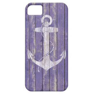 Distressed Wood with Anchor Case For The iPhone 5