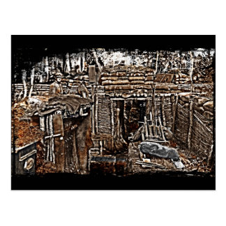 Distressed WWI Men in Trenches image Postcard