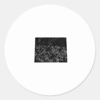 Distressed Wyoming Silhouette Round Sticker