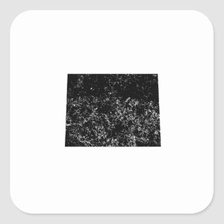 Distressed Wyoming Silhouette Square Sticker