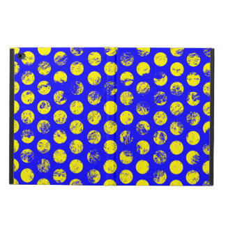 Distressed Yellow Spots on Blue