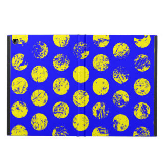 Distressed Yellow Spots on Blue Powis iPad Air 2 Case