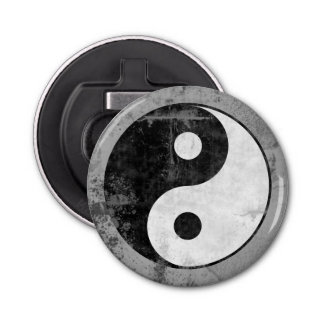 Distressed Yin Yang Symbol Bottle Opener