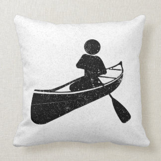 Distressing Canoeing At Play Pillow