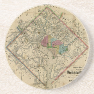 District of Columbia Civil War Era Map Coaster