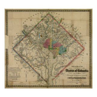 District of Columbia Civil War Era Map Poster