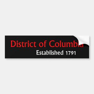 District of Columbia Established Bumper Sticker