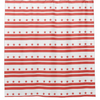 DISTRICT OF COLUMBIA Flag Pattern -.png Shower Curtain