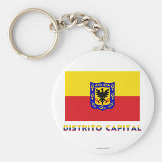 Distrito Capital Flag with Name Key Chain