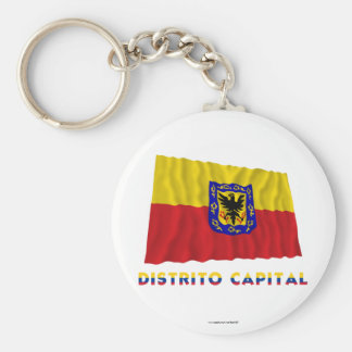 Distrito Capital Waving Flag with Name Keychain