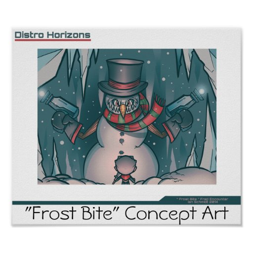 """Distro Horizons""- Frost Bite Poster 3"