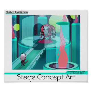 """Distro Horizons""- Stage Design Poster"