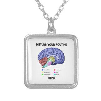 Disturb Your Routine Think (Brain Anatomy) Custom Jewelry