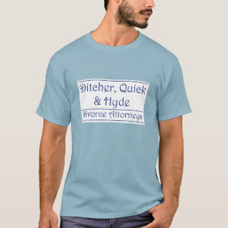 Ditcher, Quick & Hyde - blue on white T-Shirt