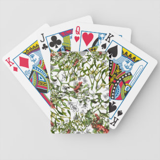 Ditsy Mistletoe Bicycle Playing Cards