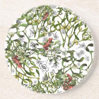 Ditsy Mistletoe Coaster