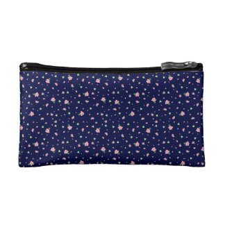 Ditsy Pink Floral Cosmetics Bag