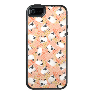 Ditsy Sheep Blush Coral Pink / Andrea Lauren OtterBox iPhone 5/5s/SE Case