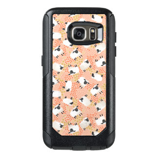 Ditsy Sheep Blush Coral Pink / Andrea Lauren OtterBox Samsung Galaxy S7 Case