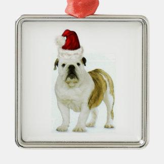 Ditzy Dogs~Original Ornament~Bulldog~Christmas Metal Ornament