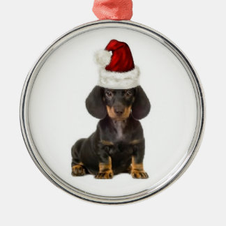 Ditzy Dogs~Original Ornament~Dachshund Metal Ornament
