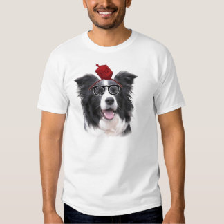 Ditzy Dogs~Original Tee~Border Collie~Chanukah T-shirts