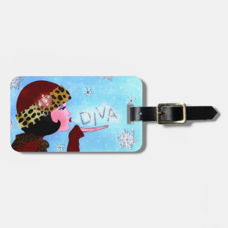 Diva and Snow Sparkles *Personalize Luggage Tags