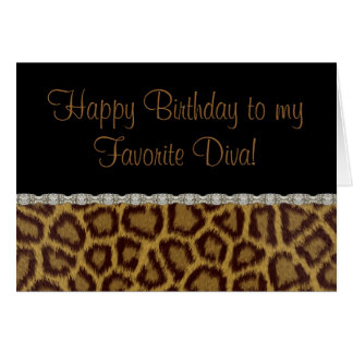 Diva Birthday Leopard Birthday Card