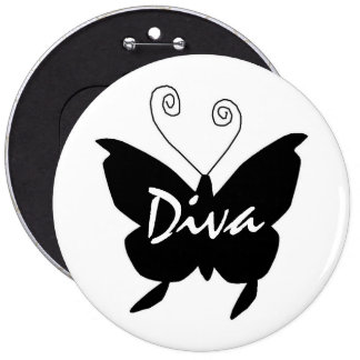 Diva Butterfly Button