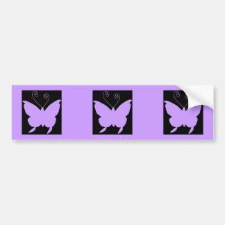 Diva Butterfly Car Bumper Sticker