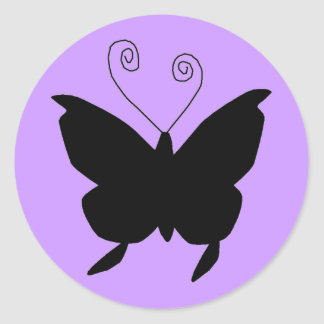 Diva Butterfly Classic Round Sticker