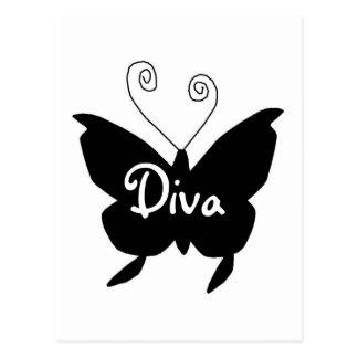 Diva Butterfly Postcards