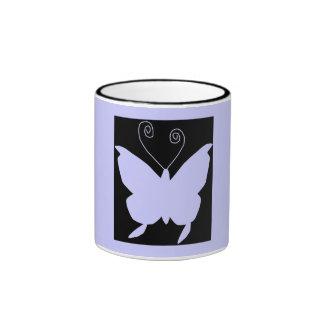 Diva Butterfly Ringer Coffee Mug